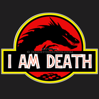 Smaug T-shirt Design - I Am Death by sugarpoultry