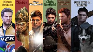Top 6 Favorites Characters 2 by redfield37