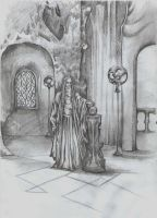 Saruman in Orthanc by AnotherStranger-Me