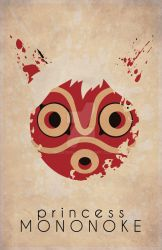 Mononoke Minimalist Movie Poster by ArlieOpal