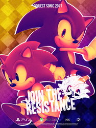 Sonic Resistance: Classic and Modern Poster by NathanLaurindo