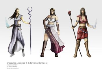 Female Atlantian -differentego by VisionXtream