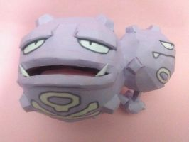 weezing papercraft by jorgeescalante