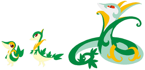 Snivy, Servine and Serperior Base