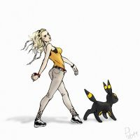 Trainer with Umbreon by PurpleLemon13