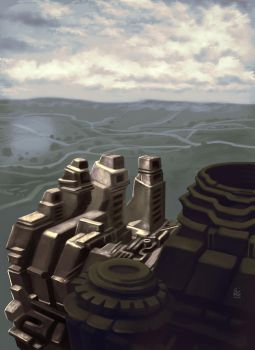 Imaginary city - Top Of The Hill by AumesRonoy