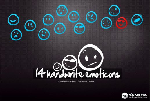 Handwrite emoticons by yankoa