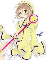 yellow outfit sakura by CLAMP-Club