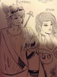 Hermes and Athena by GBMelendez23k