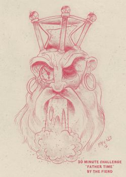 Daily Sketch Challenge 'Father Time' by FiendishDesign