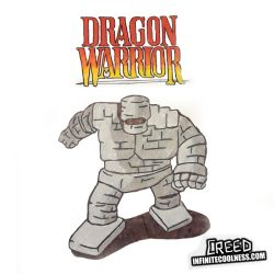A Stoneman approaches! Dragon Warrior on the NES! by CreedStonegate