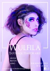 Wulfila Tatouage Temporaire flyer by creationbegins