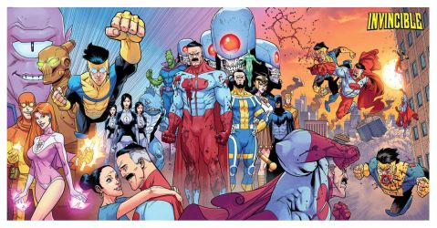 INVINCIBLE triptych colored by RyanOttley
