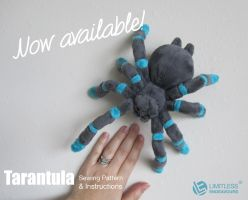 Tarantula Plush Sewing Pattern Available by LimitlessEndeavours