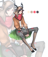 BEAUTIFUL DEER GUY AUCTION CLOSED by miotess-adopts