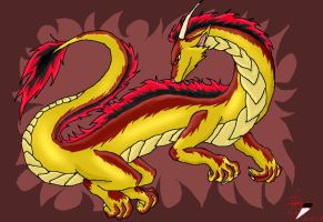 dragon with red markings by blackfang1994