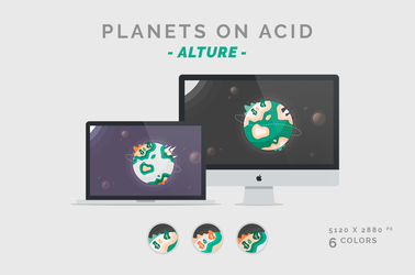 Planets on Acid 'ALTURE' Wallpaper 5120X2880px by dpcdpc11