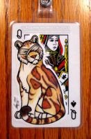 Playing Card Badge: Valkyrie by FlannMoriath