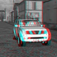 SUV 3D Red Blue by JHoagland