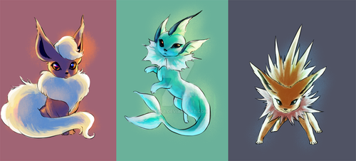 Eeveelutions by Seiga