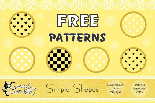 FREE Pattern Pack: Simple Shapes by aiyanne-chan
