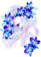 - Jibril - Blue Orchids - by ooneithoo