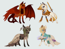 Chibi Adopts | Vagabond Faction by queerly
