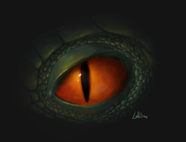 an attempted Dragon eye by CrystalBluePuppy