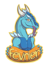 Fevrier Badge Commission by SophieSuffocate