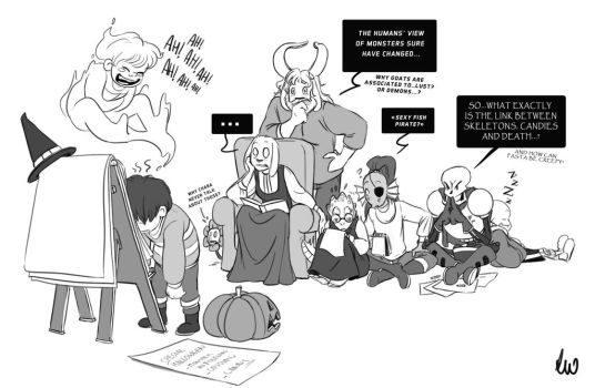 Undertale Halloween 2017 - Spooky Teaching by oennarts