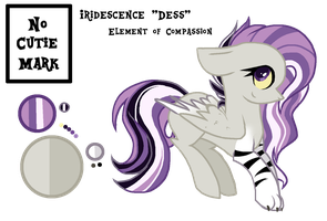 Crystalverse Refrence Sheet: Dess by ThePegasisterPony