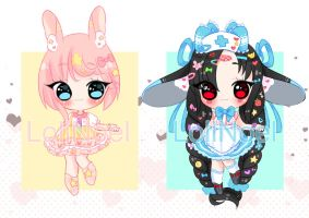 [CLOSED] (AB ADDED) Auction $1/100p. Decora Girls by LoliNoel