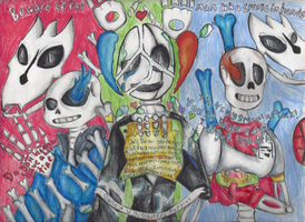 Gaster, Sans, and Papyrus --(Undertale)-- by rambowcomit