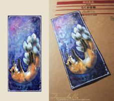 Kitsune original bookmark by Tuonenkalla