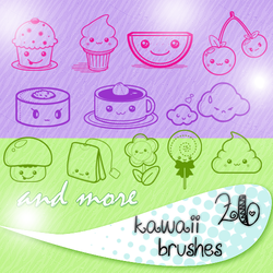 Kawaii Brushes by star-mari