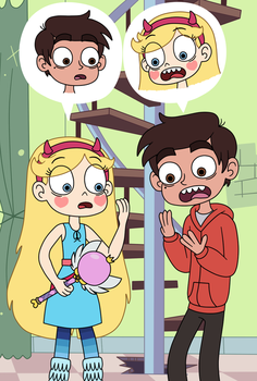 Star Butterfly and Marco Diaz in a body swap by Deaf-Machbot