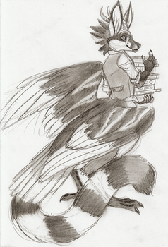 Bird taur librarian - Commission by Linda065cliva