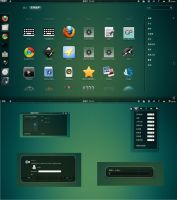 black glass for gnome shell by shule1987