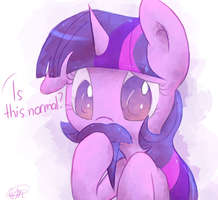 Bearded Ponies: Twilight Sparkle by Ranoutofideas