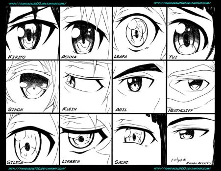 Sword Art Online Eyes by Randazzle100