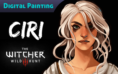 Digital Painting Video: Ciri by CPatten