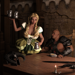 The Pitfalls of Being a Tavern Wench by Martiandawn