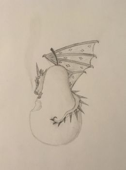 Dragon on a Pear by Dusk-the-Nightwing