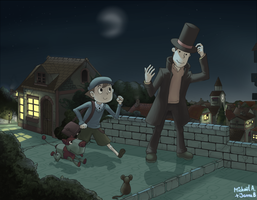 Layton: The Veil of Night by cyanatar
