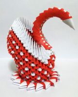 3D Origami Red Swan 2 by designermetin