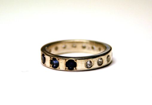Ring with three saphire stones by LARvonCL