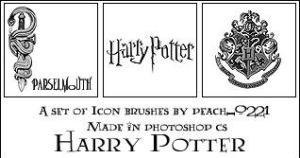 Harry Potter Brushes by princesspeach0221