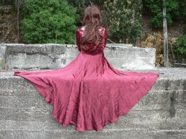 Eli Red Dress Godess 7 by Gracies-Stock