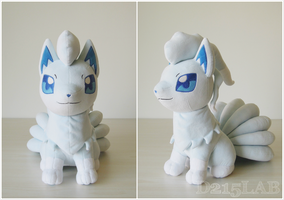 Alola Ninetails Plush by d215lab