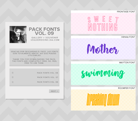 Pack Fonts Vol. 09 by xPEGASVS